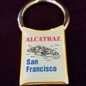Vintage 90's Gold Plated Solid Brass Keychain - Al